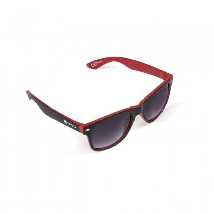 Unisex Sonnenbrille, schwarz & rot matt