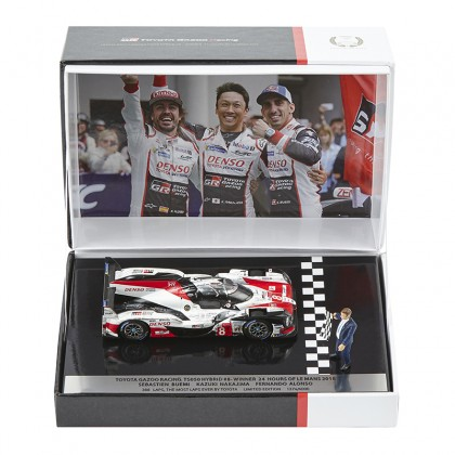 TOYOTA HYBRID TS050 No 8 Replikamodell, 2018 Le Mans Gewinnerauto. Maßstab 1:43, limitierte Auflage