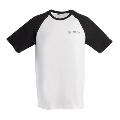 Olympia Herren T-Shirt mit schwarzen Kontrastärmeln