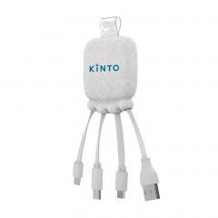 Kinto-Weizenstroh-Powerbank/-Kabel