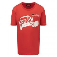 TOYOTA GAZOO Racing Rennwagen-T-Shirt für Kinder